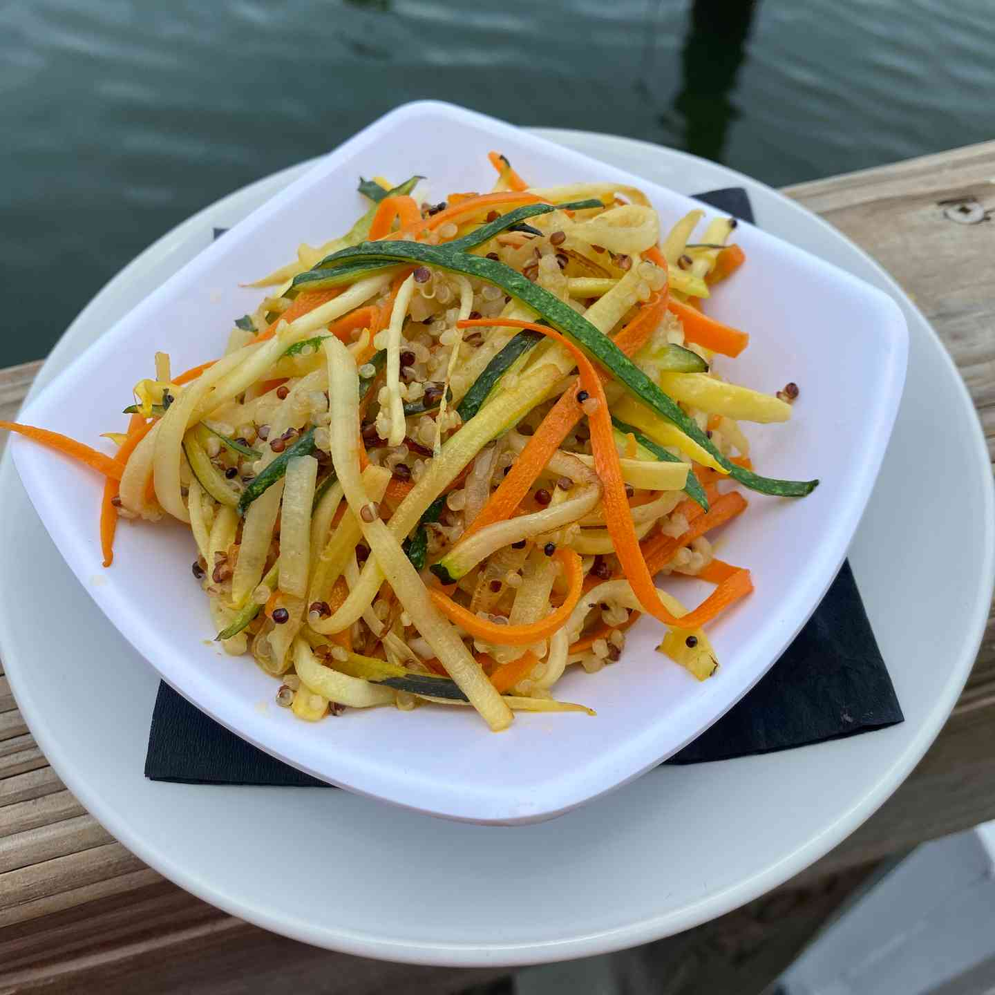Garlic Lemon Quinoa With Veggie Noodles