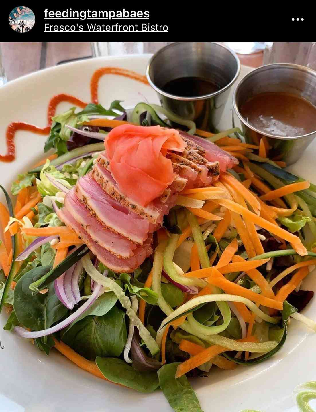 Black & Blue Ahi Salad*