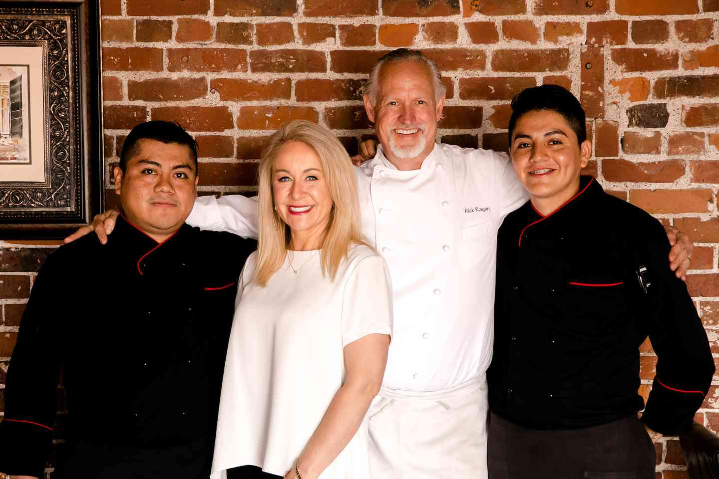 Restaurant staff and owners