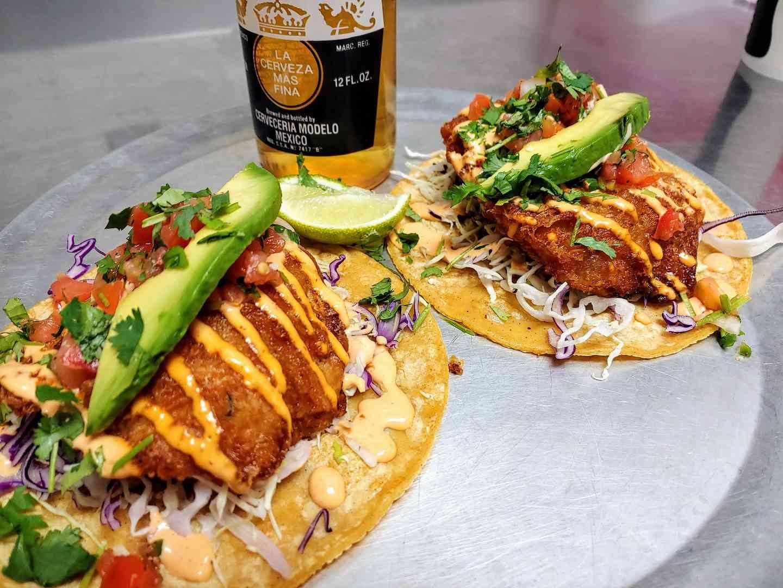 $6.99 Two Baja Fish Taco Plate