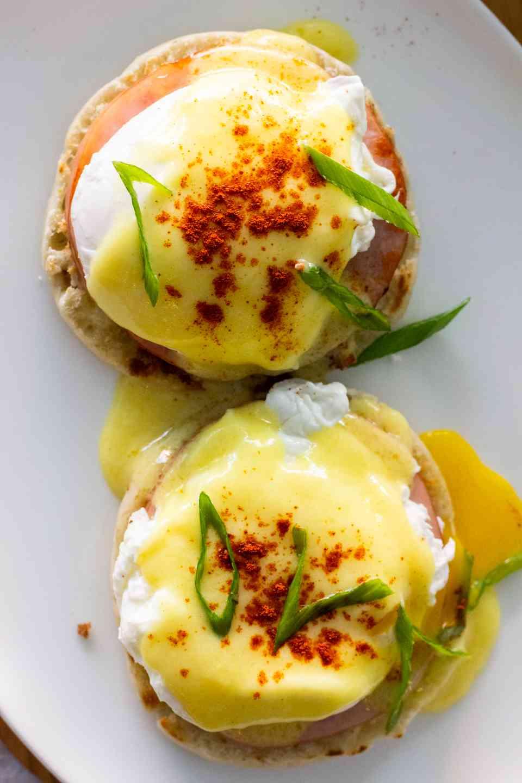 Eggs Benedict   Ham, Poached Egg, English Muffin, Hollandaise