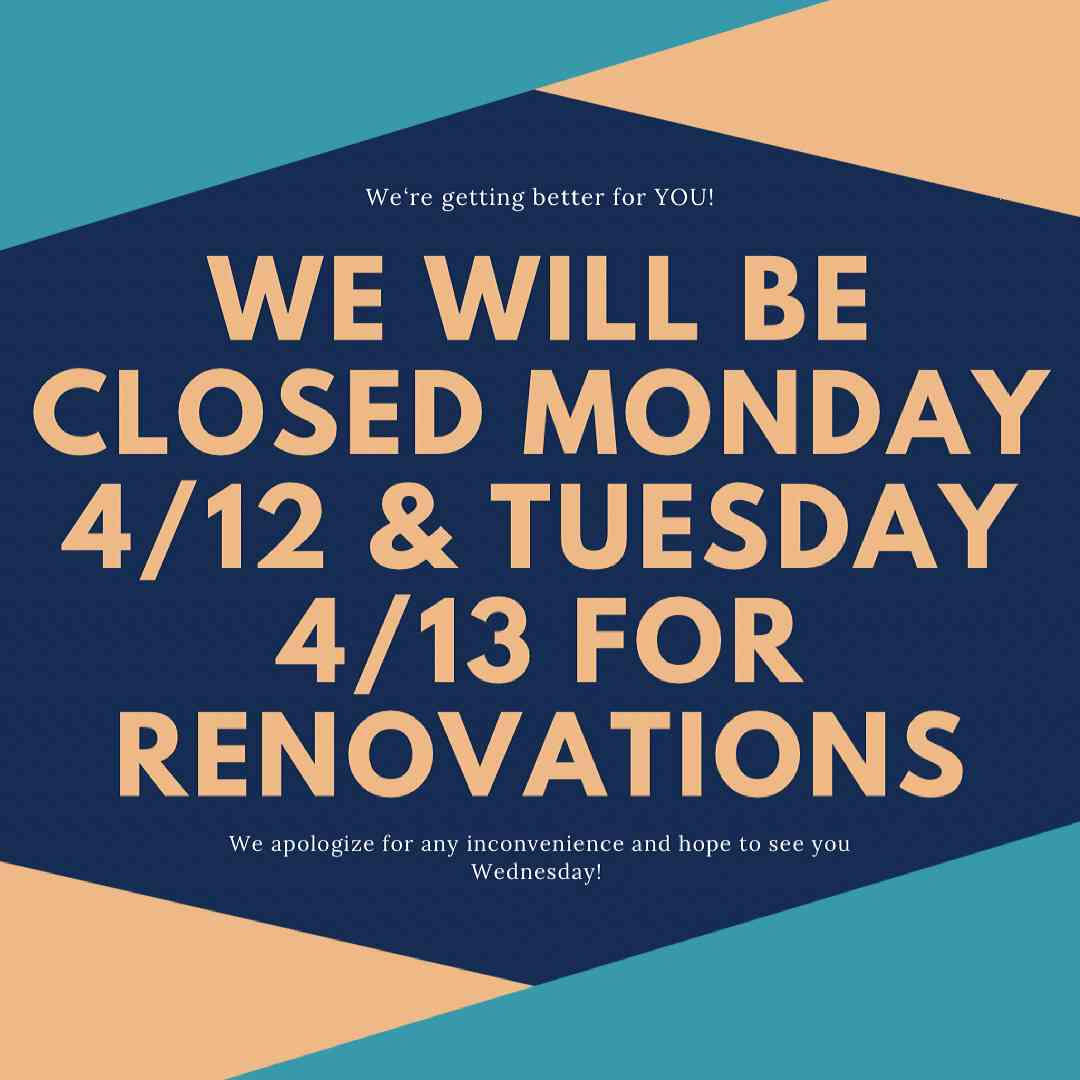 Freight will be closed Monday 4/12 & Tuesday 4/13 for renovations. We sincerely apologize for any inconvenience.
