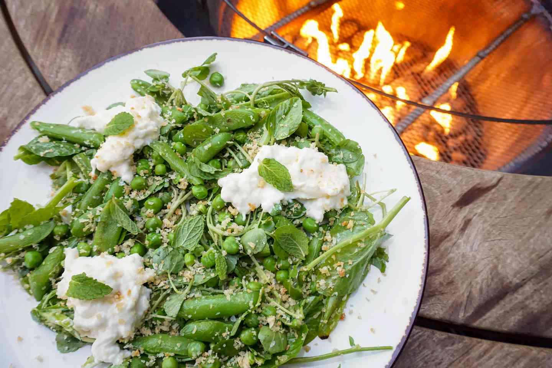 Peas and Burrata