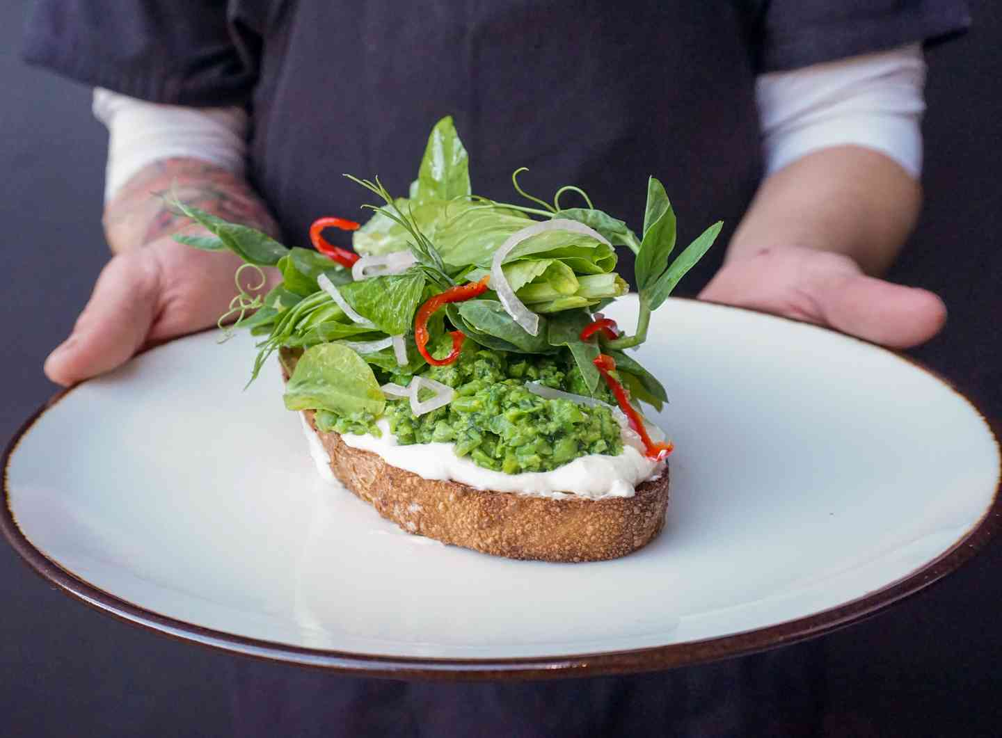 English Pea Toast