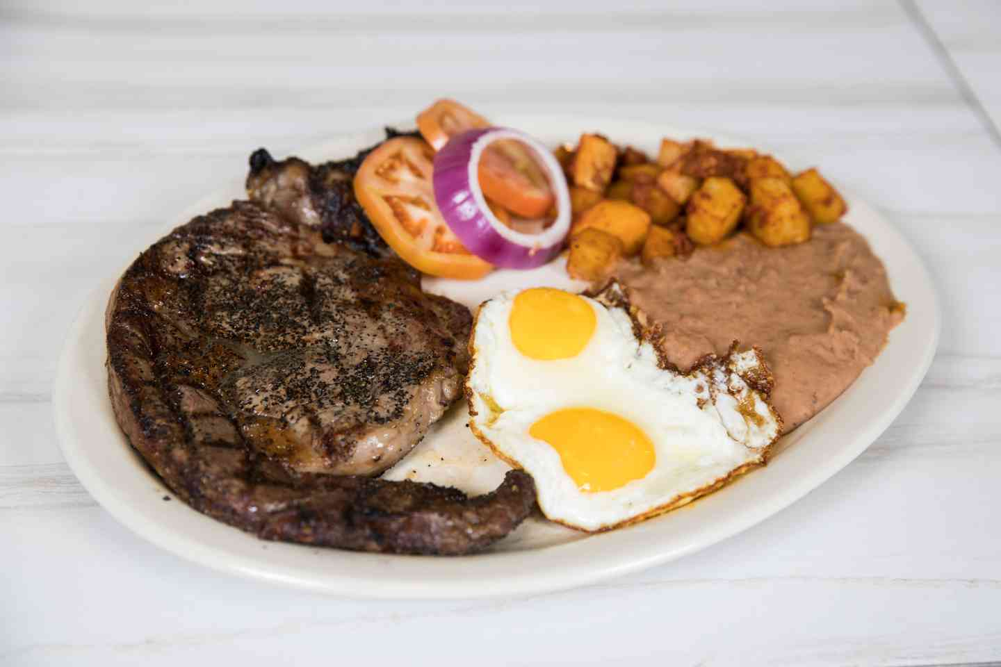 USDA Choice Ribeye & Two Eggs