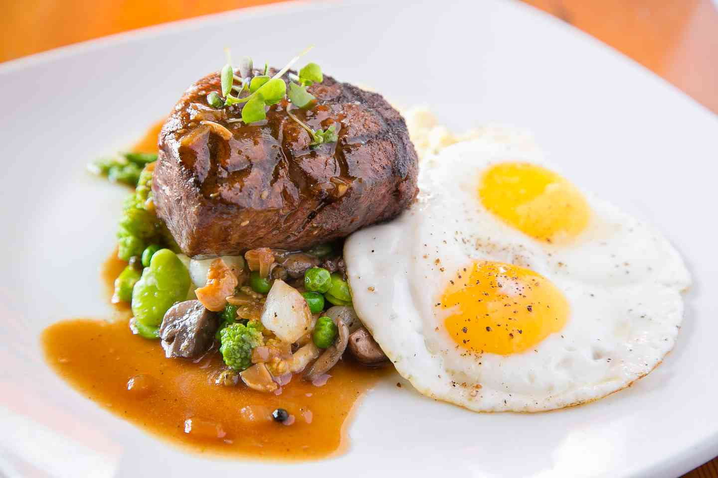 Double R Ranch Filet Mignon Steak & Cage Free Fried Eggs