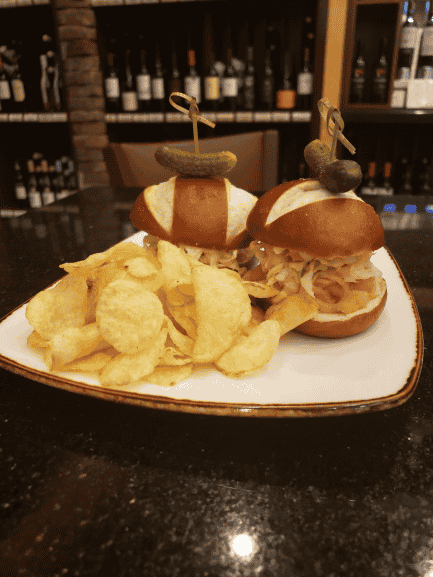 Smoked Salmon Reuben Sliders