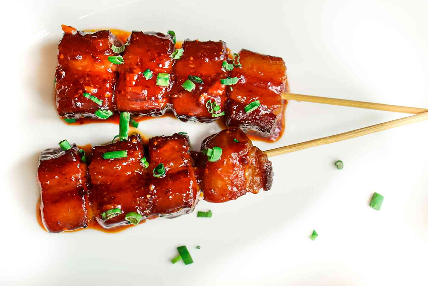 45-Day Cured Bacon Skewers