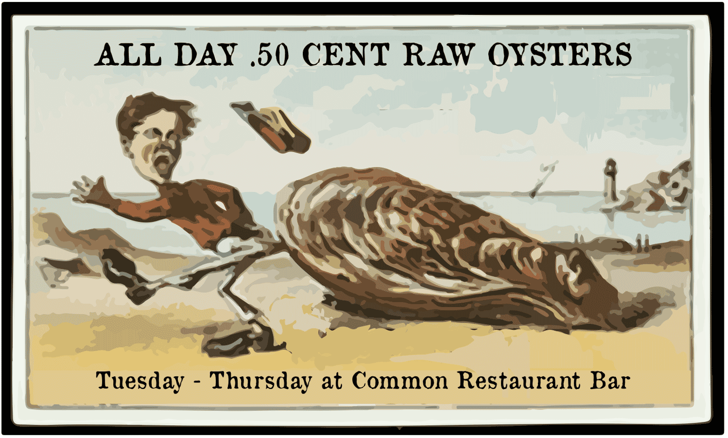 .50 cent raw oysters