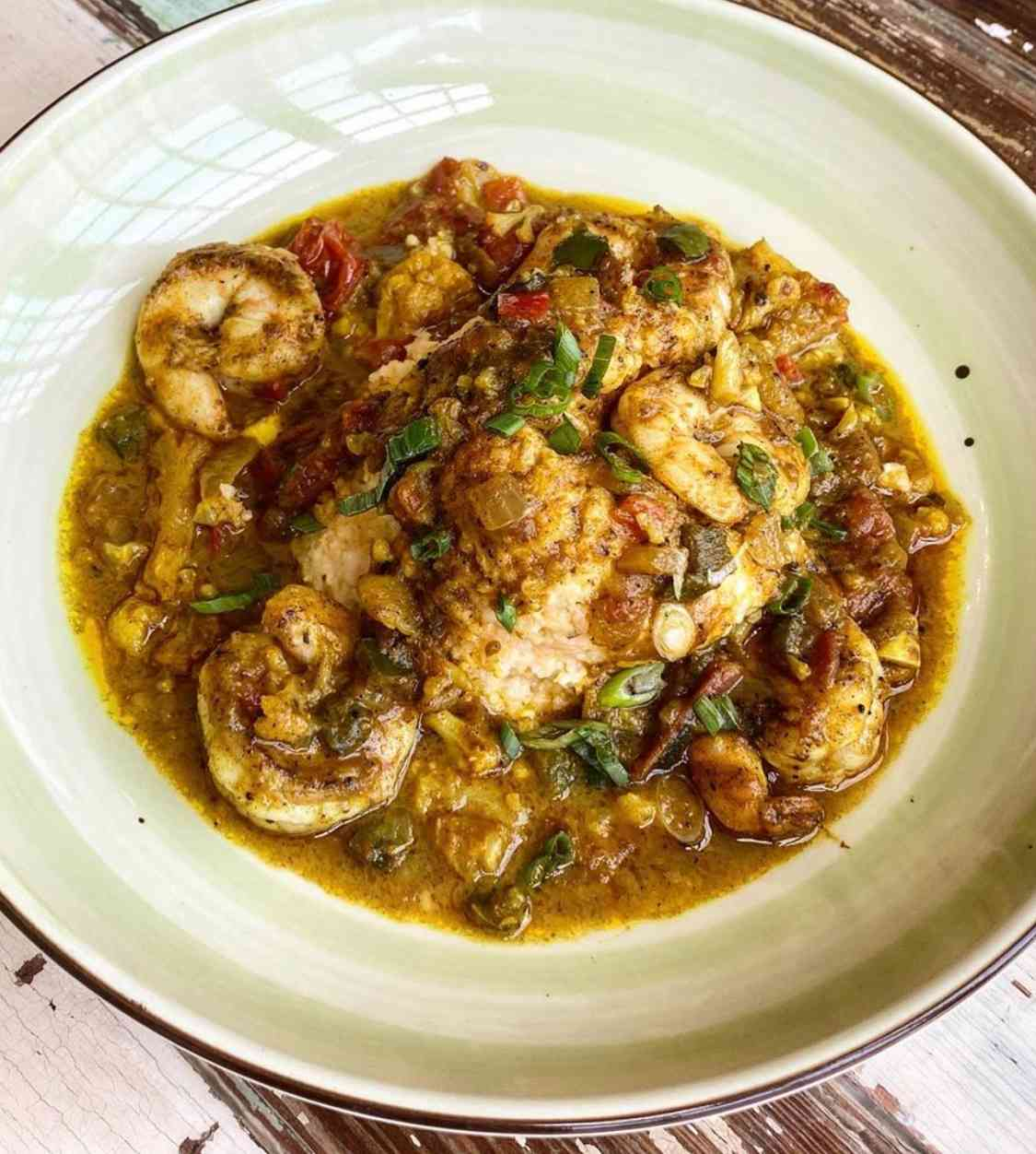 Curry Shrimp & Grits