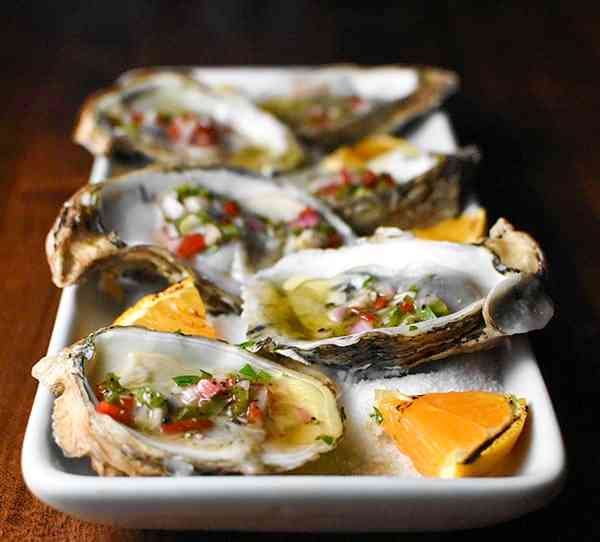 Oysters Mignoette
