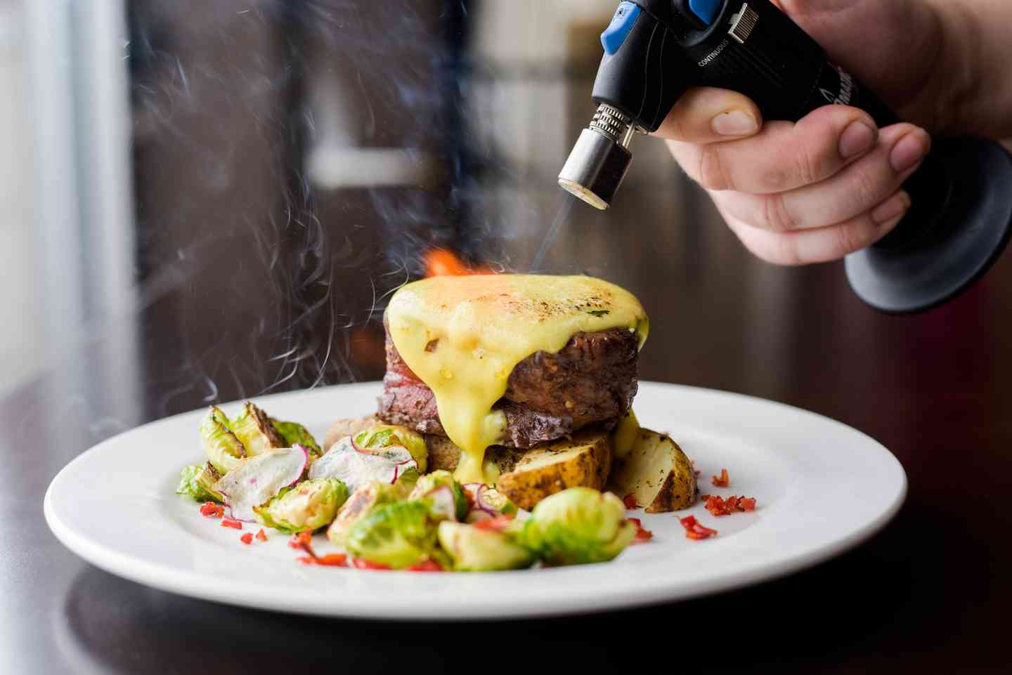 Filet with Brussle Sprouts