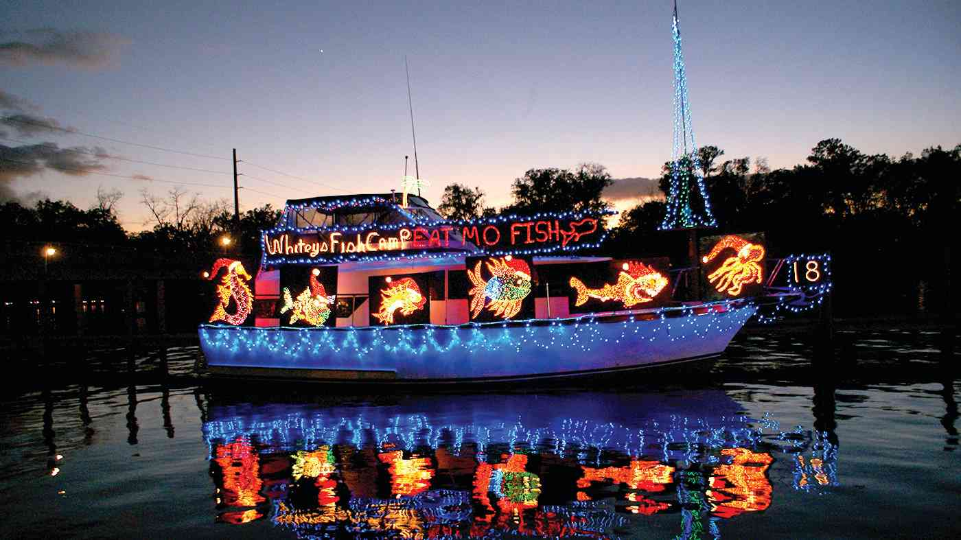 White's Fish Camp boat