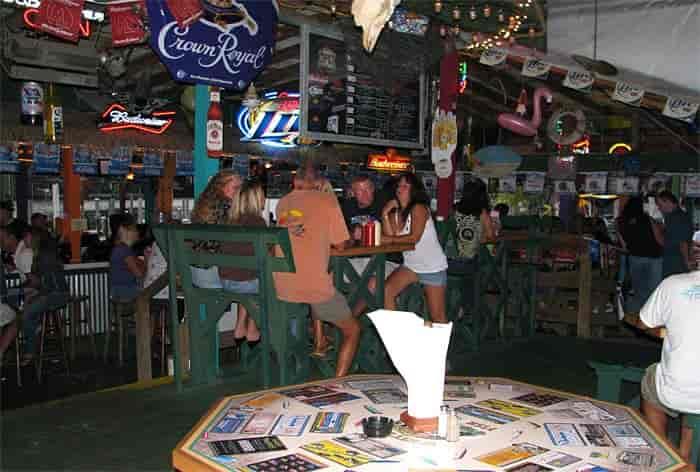 Patrons enjoying the bar