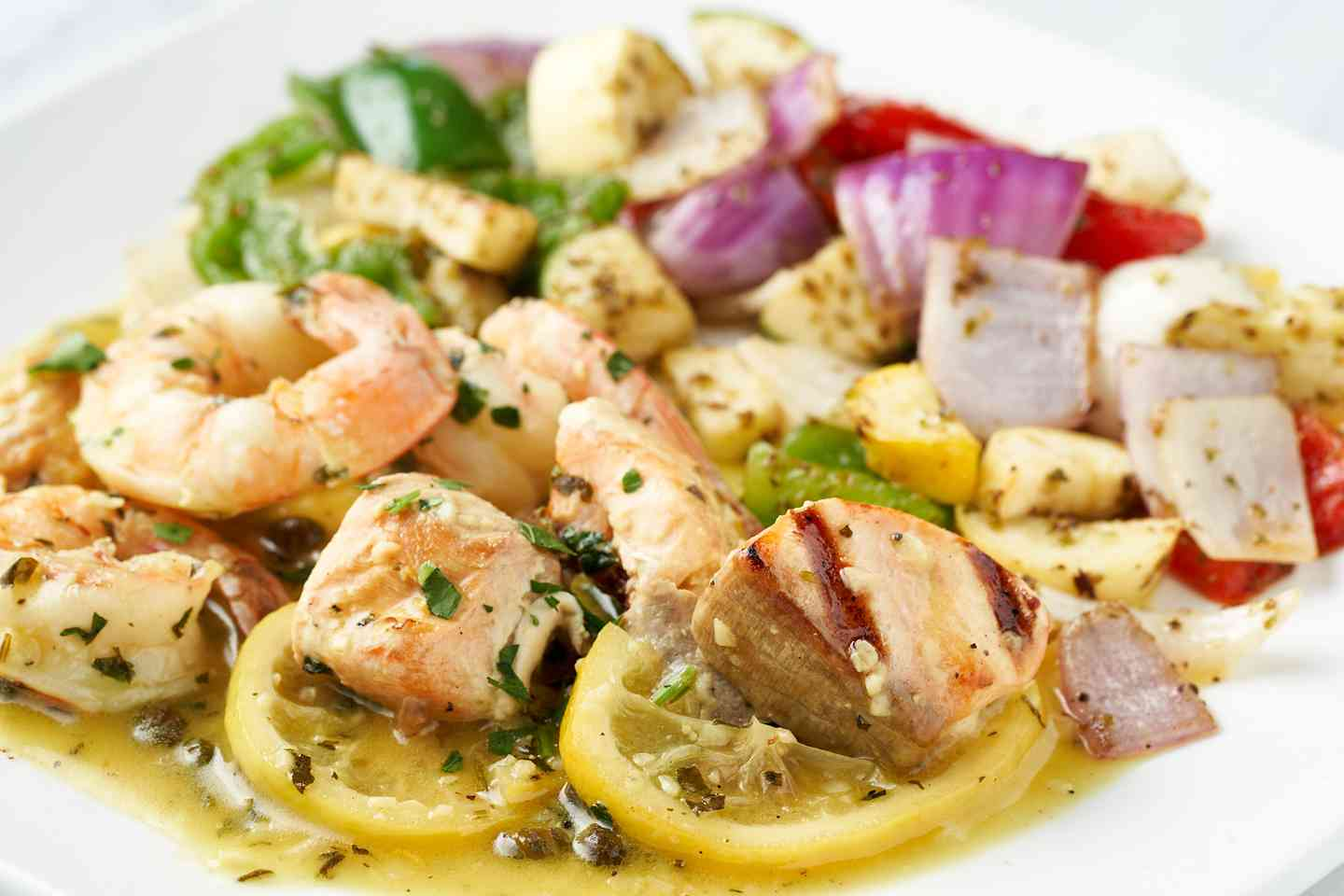 Salmon & Shrimp Kabob