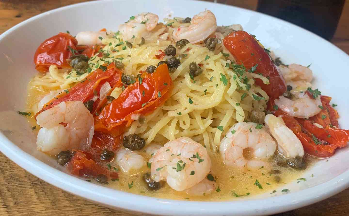 House Made Linguini & Shrimp Scampi
