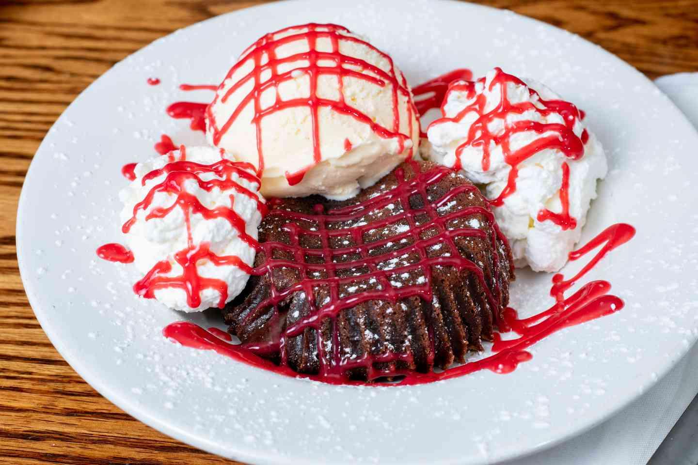 Raspberry Molten Lava Cake