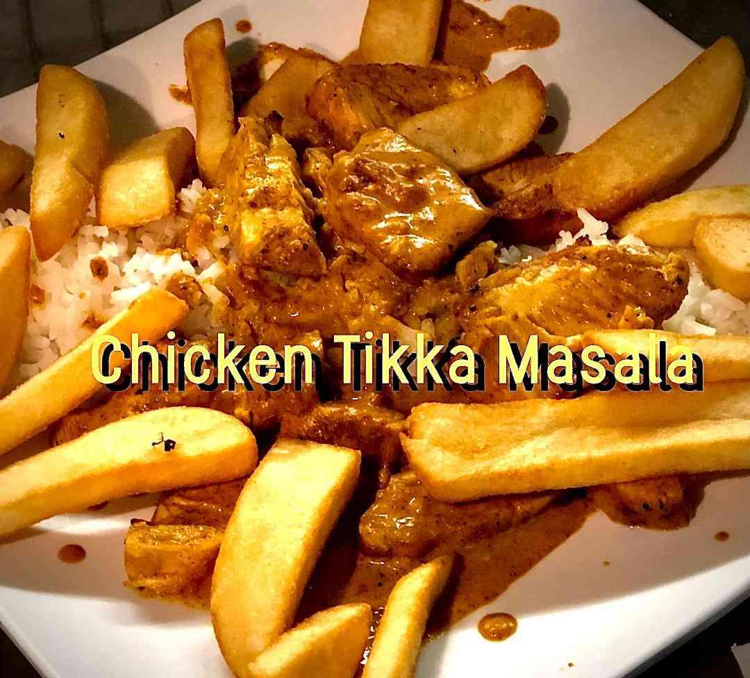 Chicken Tikka Masala with Chips