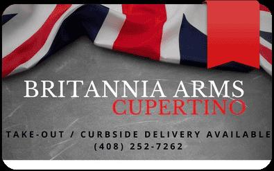 Britannia Arms Cupertino gift card