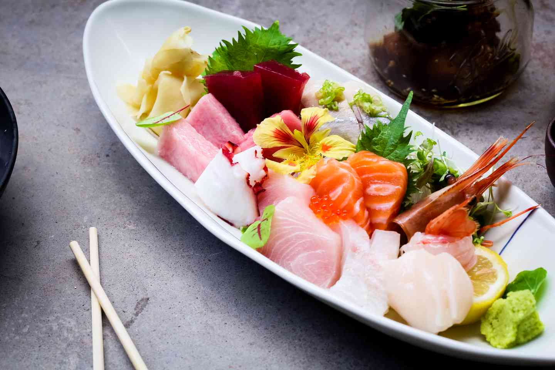 Sono sushi hero shot of food