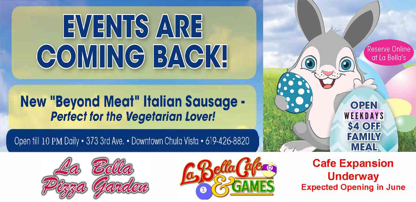 Events are Back Try our Beyond Meat Sausages & Family Meal Deal