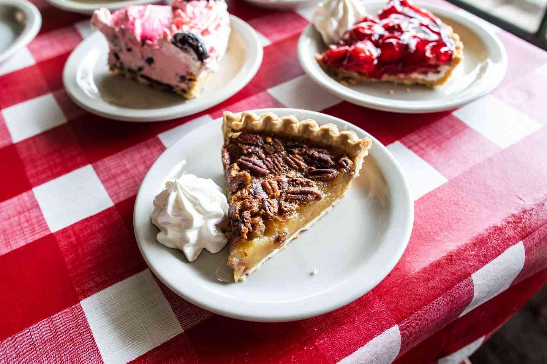 three pie slices