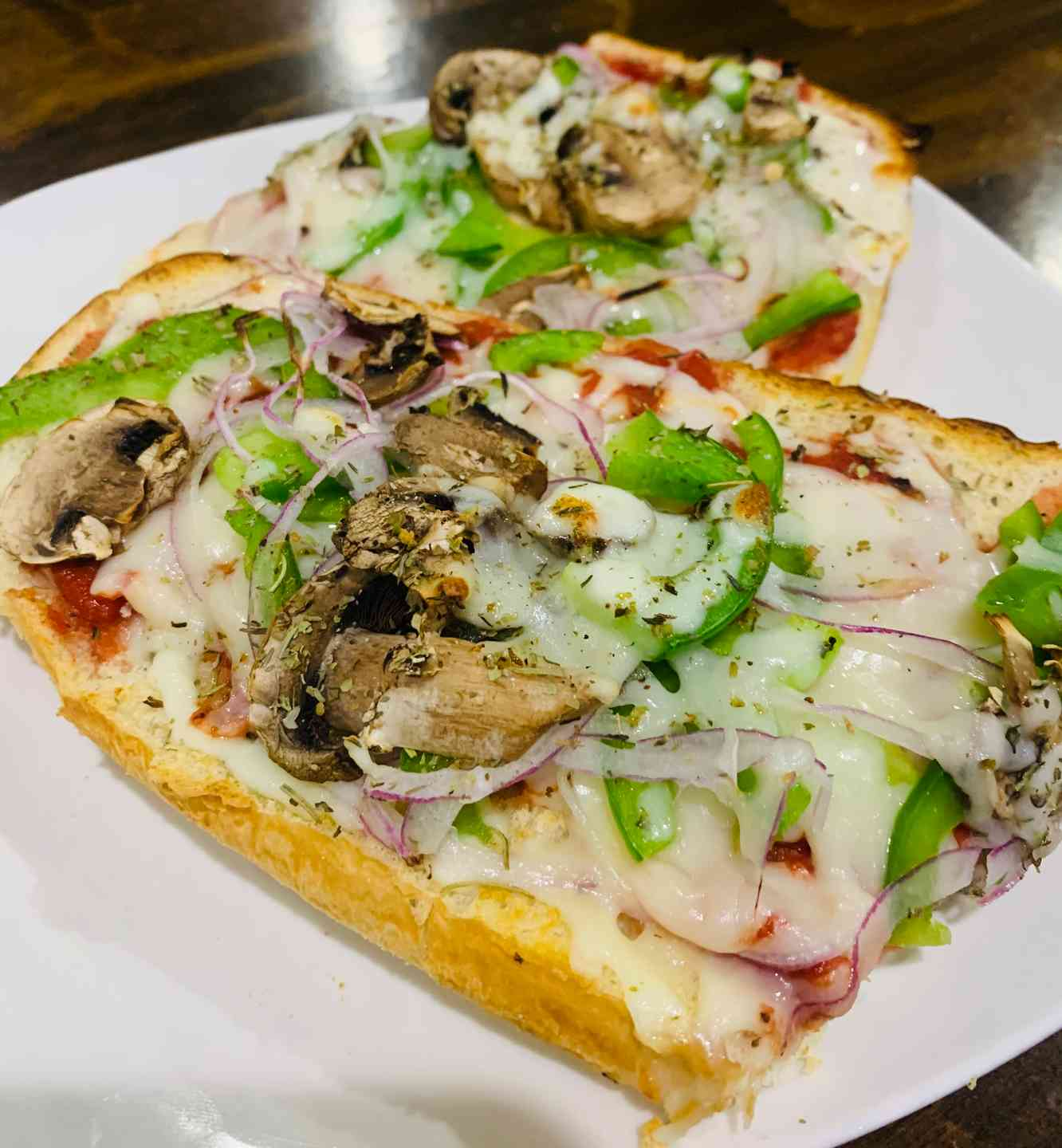 Veggie French Bread Pizza