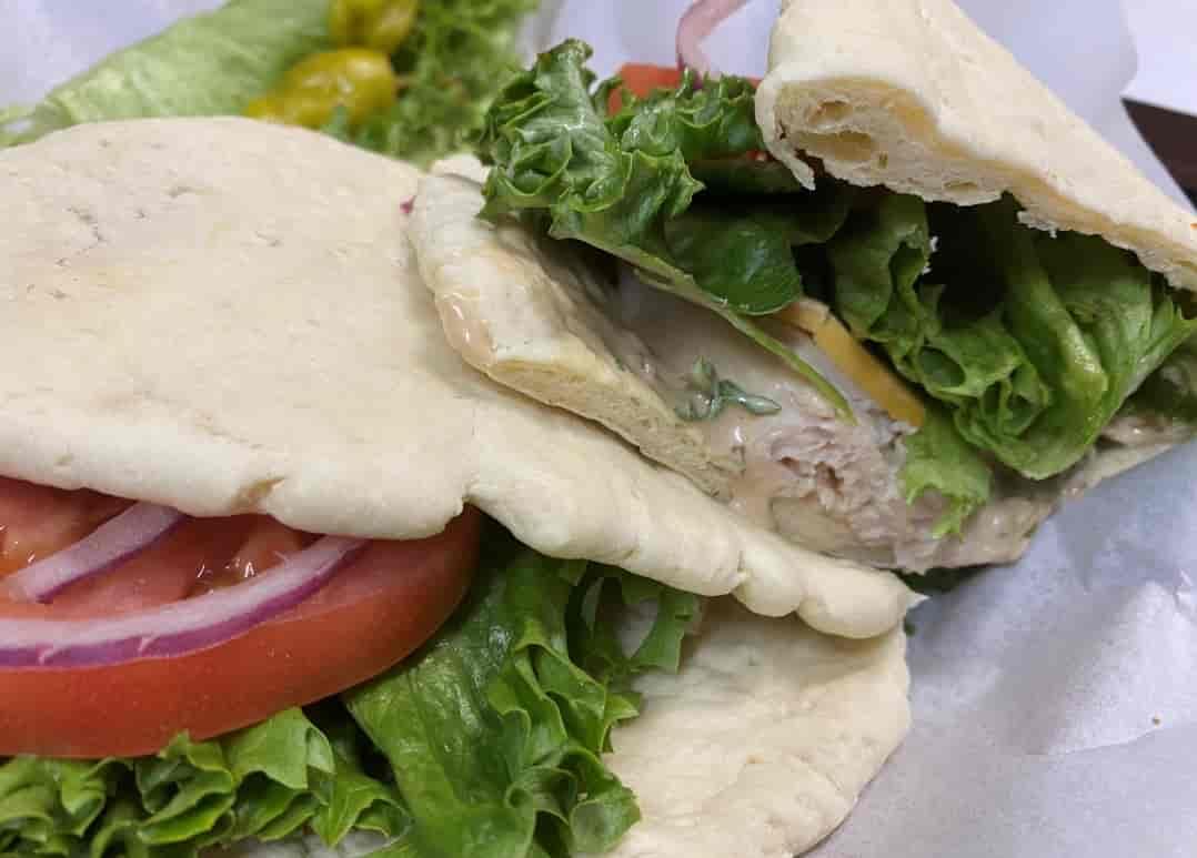 Turkey Flat Bread Sandwhich