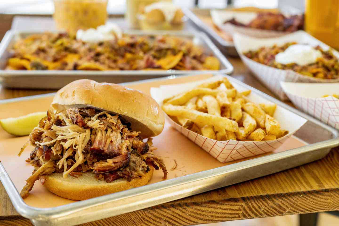 pulled pork and fries