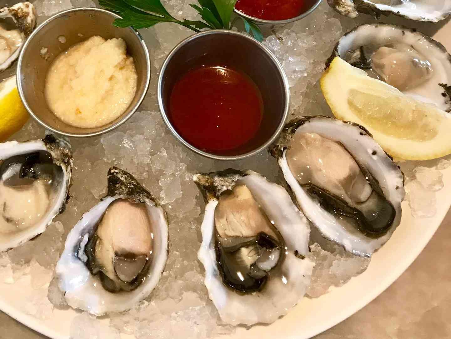 Selection of Fresh Seasonal Oysters