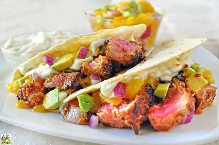 3 Ahi Tuna Tacos