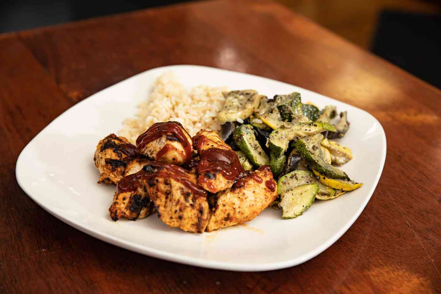 Grilled BBQ Chicken Tip Entrée