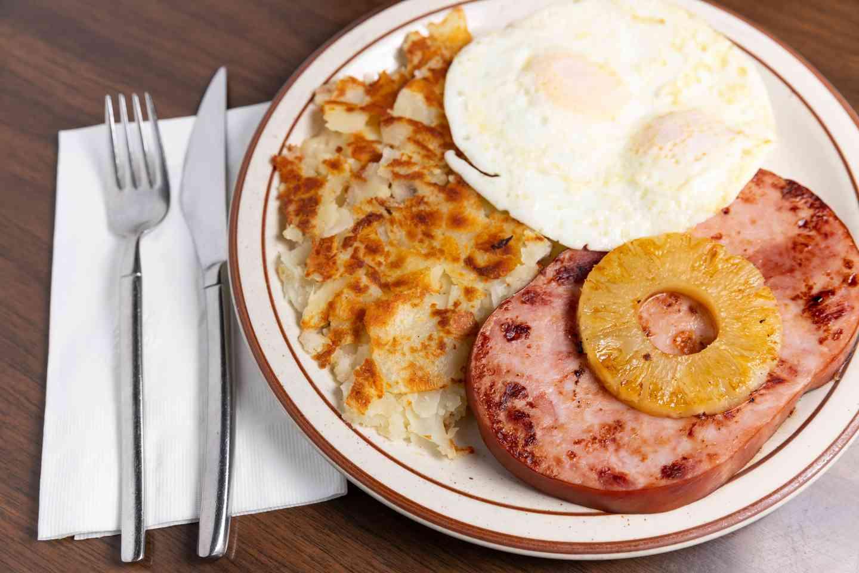 Ham Steak & Eggs