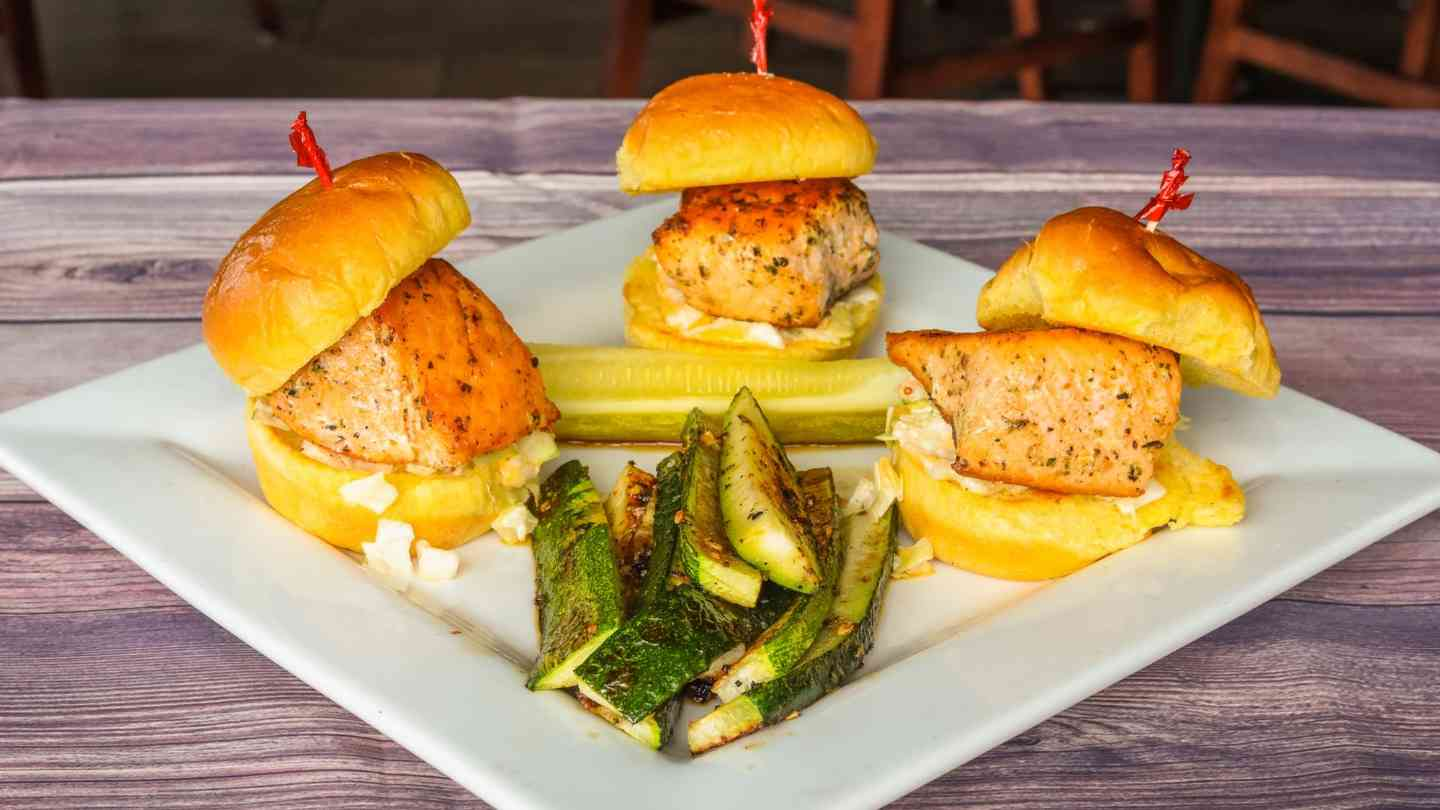 Blackened Salmon Sliders