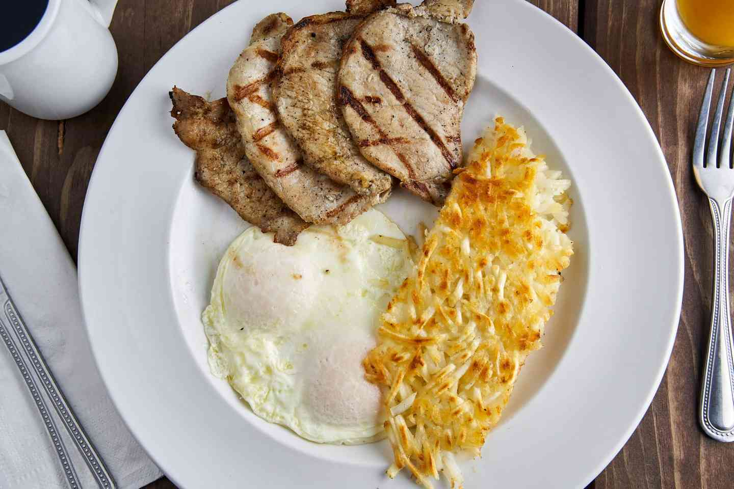 †Pork Chops and Eggs