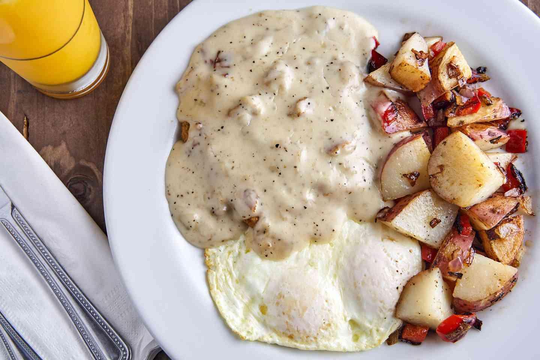 †Chicken Fried Steak and Eggs