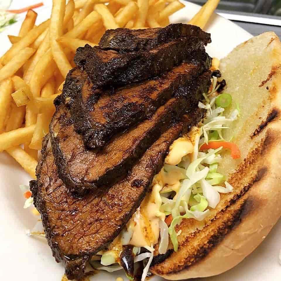 Jerk Tri-tip Sandwich