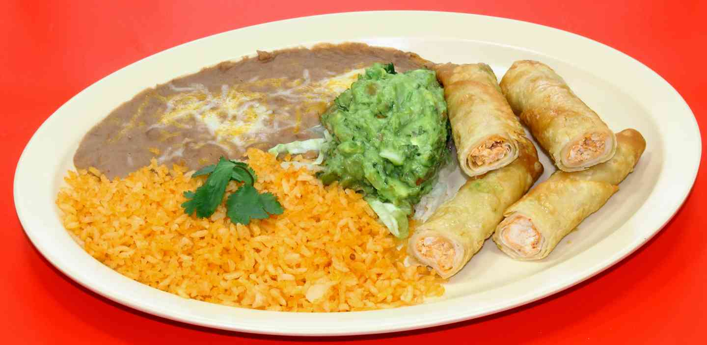 #4 Two Flautas with Guacamole