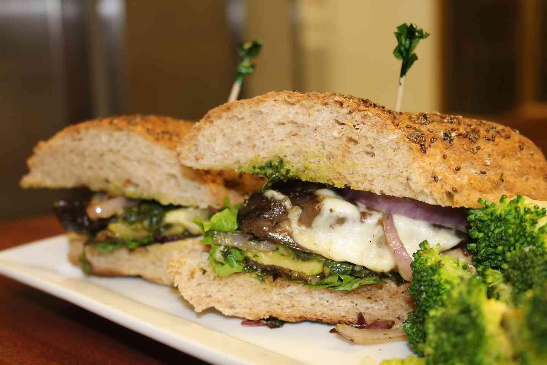 Portobello, Zucchini and Peppers Sandwich