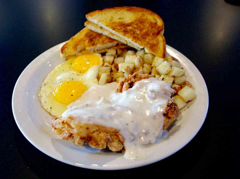 Chicken Fried Chicken & Eggs