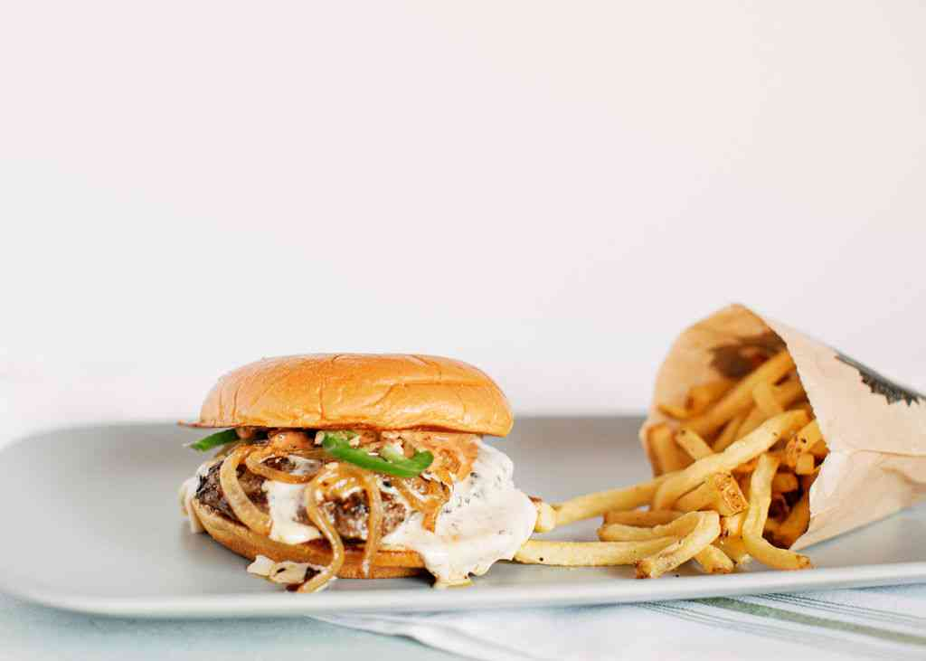 Rebel Yell Queso Burger