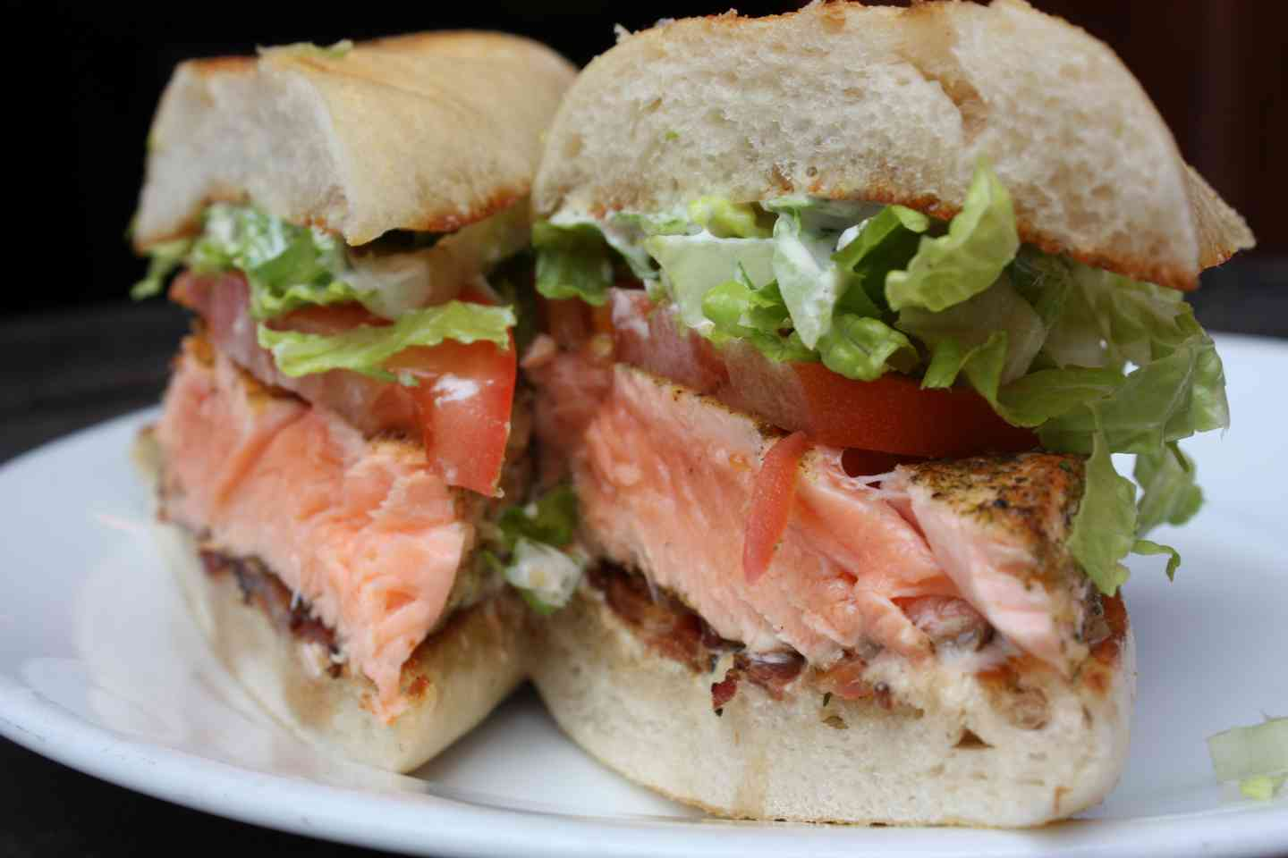 Grilled Salmon BLT