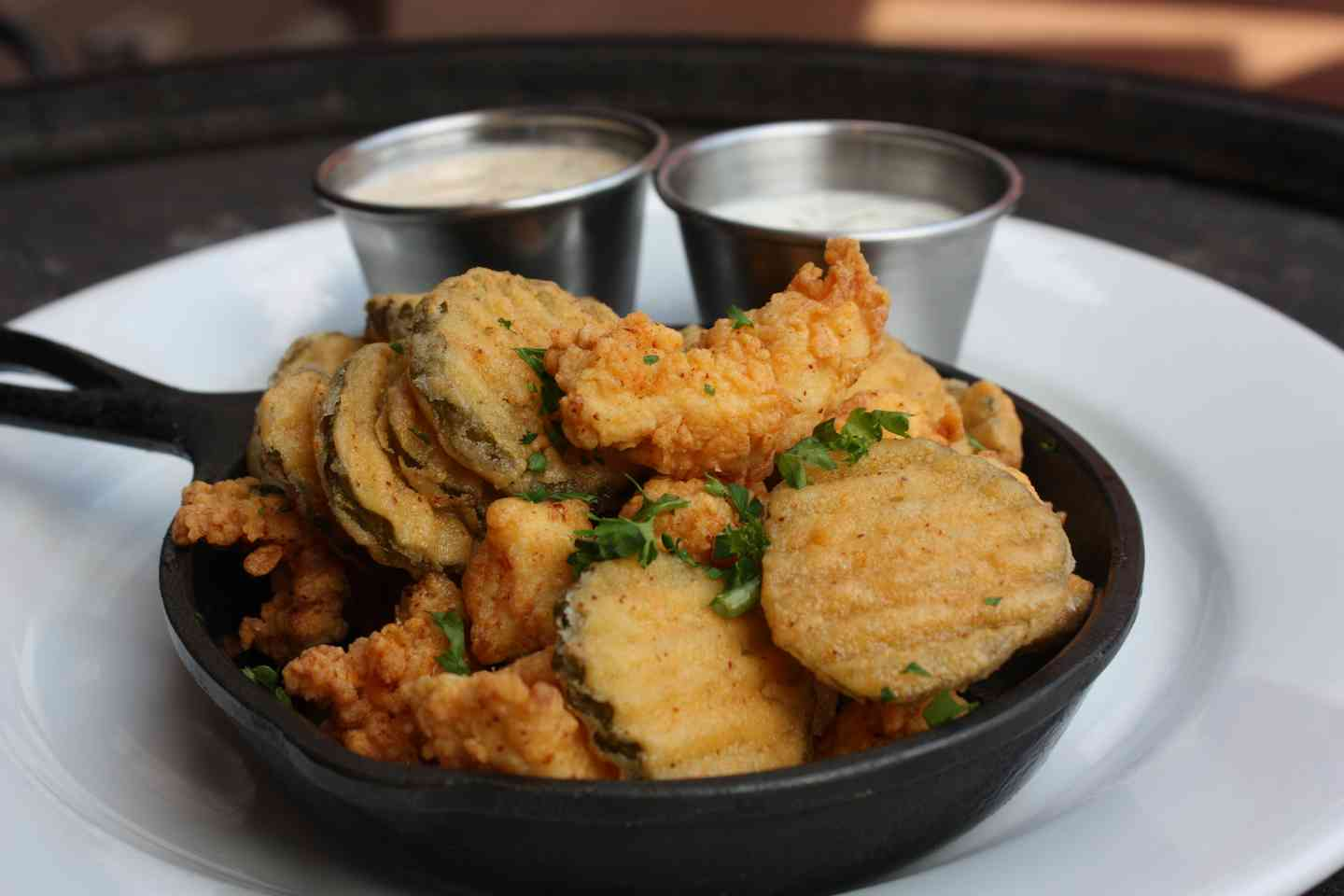 Southern Fried Popcorn Chicken & Pickles