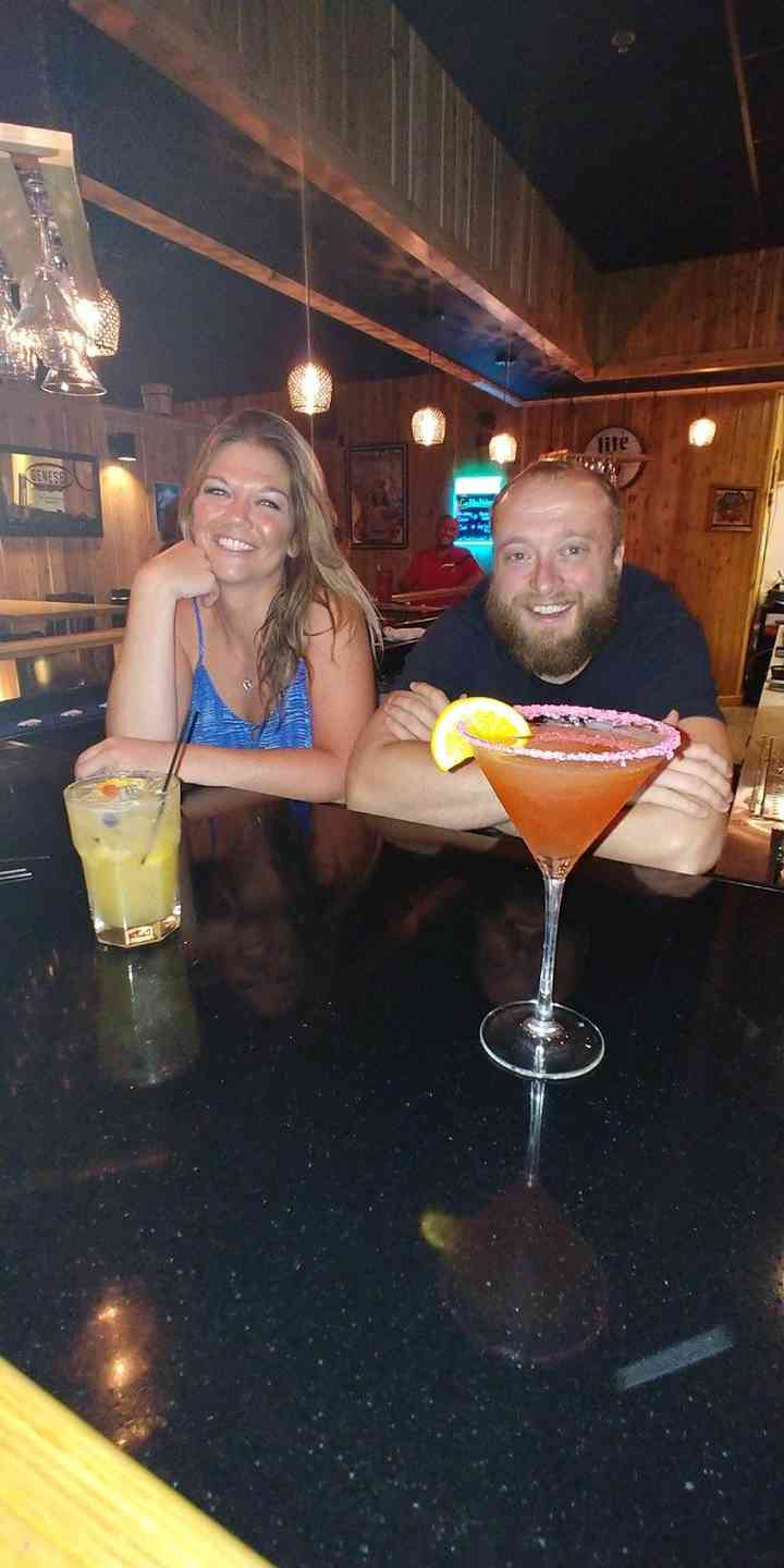 couple with drinks