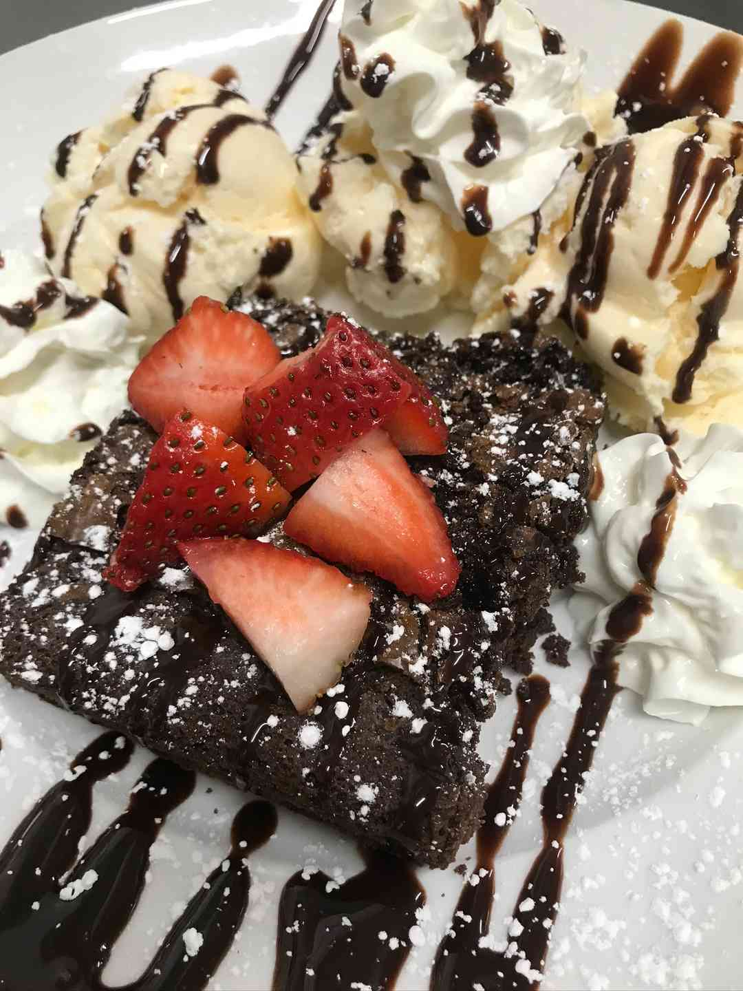 Homemade Brownie Sundae