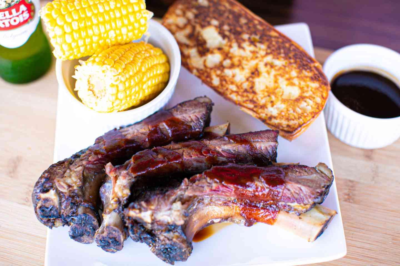3 Beef Ribs, Texas Toast