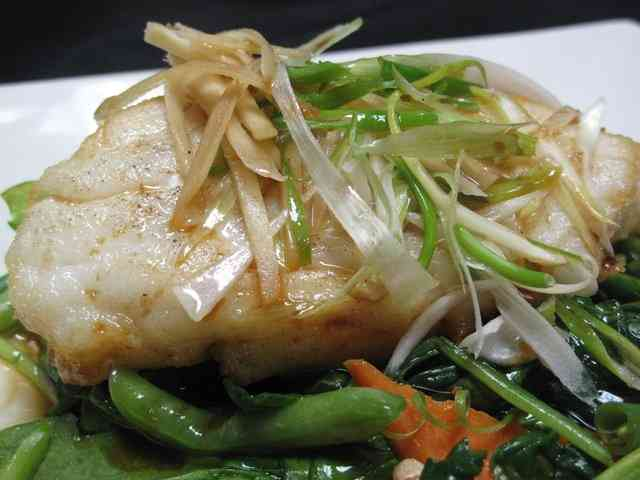 Steamed Chilean Sea Bass