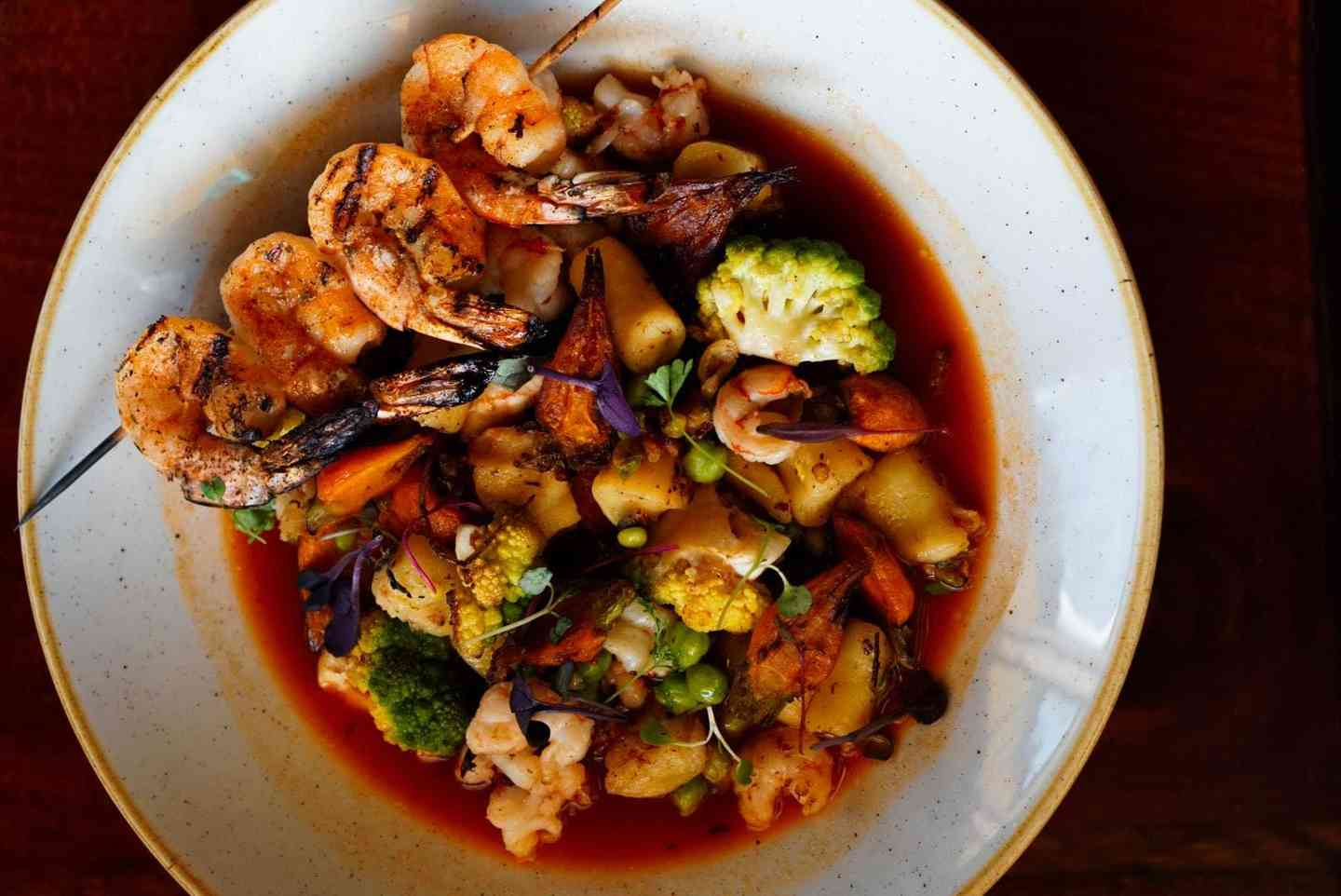 shrimp and vegetable dish