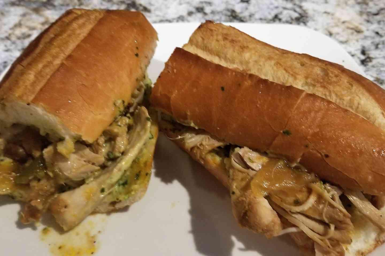 Chicken Fricassee Sandwich