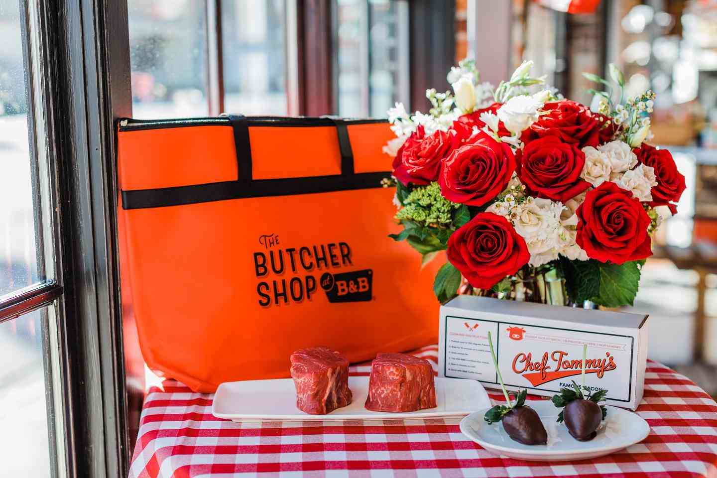 butcher shop to go with flowers